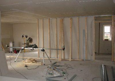 Uge 8: Montering af gipsplader i loftet samt fiber gipsvægge.