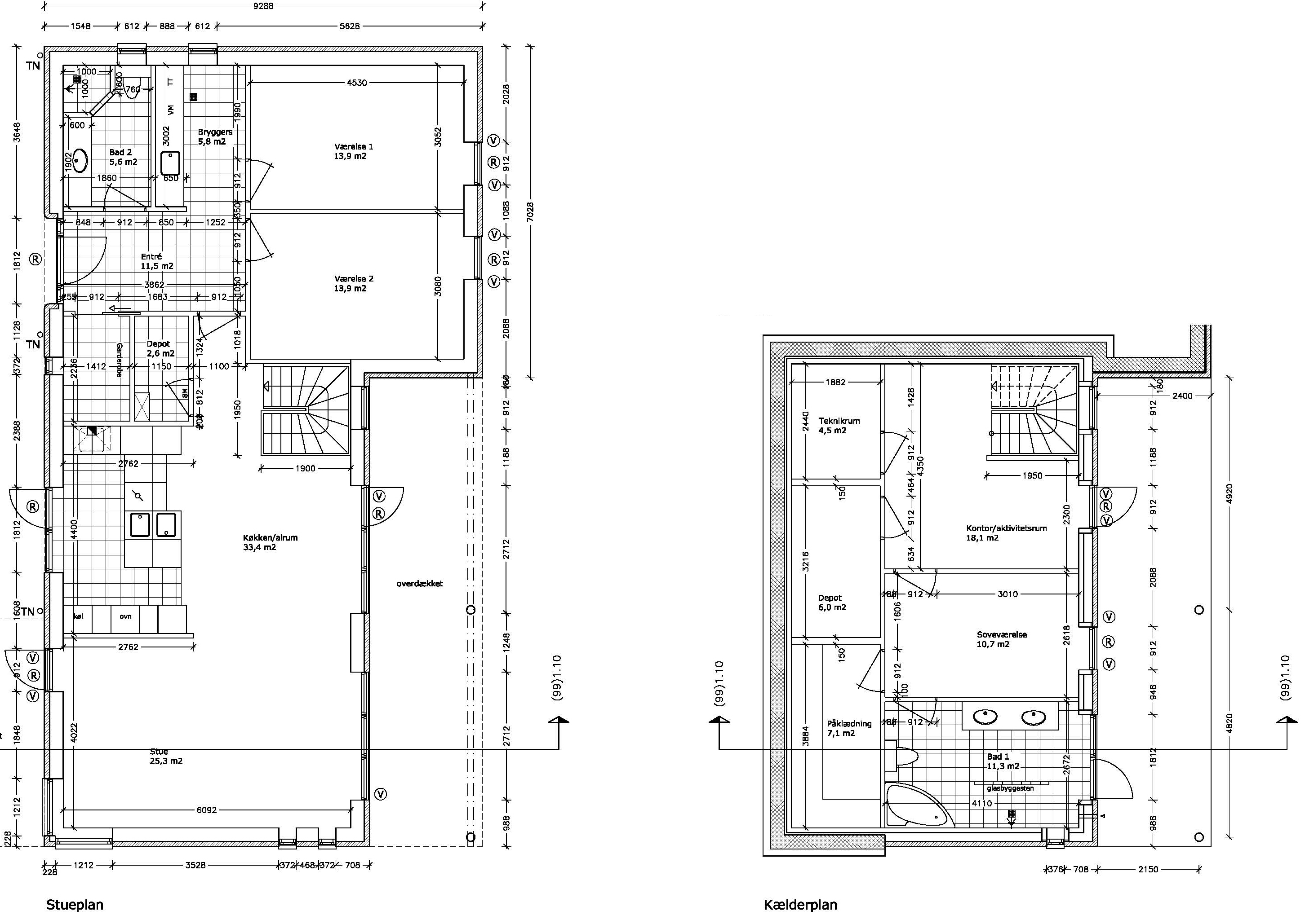 Plantegning af Design 134-23 | 134,3 m2